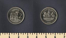 Lesotho 2 Lisente 1992 - Lesotho