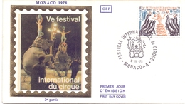 MONACO FESTIVA DU CIRQUE 1978   SPECIAL POSTMARK  (FEB201604) - FDC