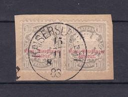 Bayern - 1876 - Portomarken - Michel Nr. 6 - W.Paar - Briefst. - Gest. - Bavaria