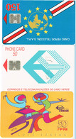 PHONECARDS-- PORTUGAL-CAPE VERDE--3  DIFFETENTS CARDS - Cabo Verde