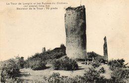 La  Tour De Langin...  Et Ruines Du Chateau - France