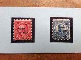 STATI UNITI - 150° Anniversario Isole Hawaii - Nn. 452/43 Nuovi ** + Spese Postali - United States