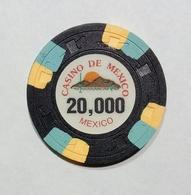 MEXICO / MESSICO - Casinò De MEXICO - CHIP / FICHE / TOKEN Da 20,000 - Casino