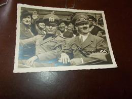 B761  Fascismo Mussolini Hitler Presenza Di STRAPPO  A Margine E Pieghe Varie Non Viaggiata - Guerra 1939-45