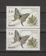 """FRANCE / 1980 / Y&T N° 2089 ** : """"Nature"""" (Papillon) X 2 En Paire - Ungebraucht"""