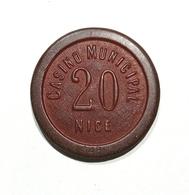 NICE / NIZZA - Casinò MUNICIPAL De NICE - FICHA / CHIP / FICHE / TOKEN Da 20 - Casino