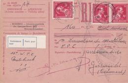 Carte Récépissé Roulette Retour Terug Impayé Onbetaald 690 Vignette Vertrokken Naar Parti Pour - Belgique