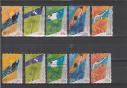 V] 10 Timbres Oblitérés 10 Circulated Stamps AUSTRALIE AUSTRALIA Paralympiques Paralympic Sydney 2000 - Summer 2000: Sydney - Paralympic