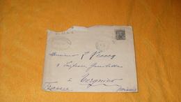 ENVELOPPE ANCIENNE DE 1907../ DENIS CROUAN & CIE DE LA GOTELLERIE & CIE PARA BRESIL POUR TERGNIER FRANCE CACHETS + TIMBR - Brésil