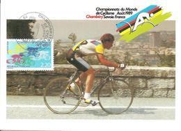 1989 Championnats Du Monde De Cyclisme : Chambéry ;carte Maximum. - Championnat D'Europe (UEFA)