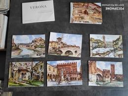 ONESTINGHEL CARNET 12 CARTE POSTALE CP ITALIE VERONA ALDO RAIMONDI AQUARELLE TBE - Verona