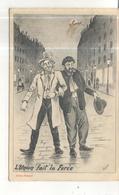 """Bergeret - 1906 - Illustrateur J. COULON - """" L'Union Fait La Force """" - Thème Alcoolisme Alcoolique Alcool Chapeau - Bergeret"""