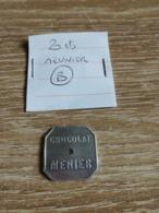 """Jeton De Nécessité """"20 Centimes / Chocolat Menier"""" en L Etat Sur Les Photos - Monétaires / De Nécessité"""
