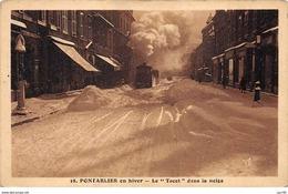 "25 - N°150434 - Pontarlier - ... En Hiver - Le ""tacot"" Dans La Neige - Pontarlier"