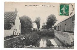 LE VERGUIER (AISNE) - Rue Baudet Et La Place - Autres Communes