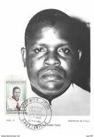 1960 - Carte Maximum - N°151332 - Congo - Le Président Fulbert Youlou - Cachet - Brazzaville - Brazzaville
