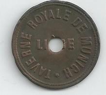 Monnaie Nécessité Liege-taverne Royale De Munich-35c - Monétaires / De Nécessité