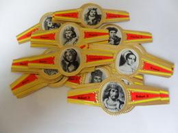 Rois Et Reines De France (36 Bagues) - Bauchbinden (Zigarrenringe)