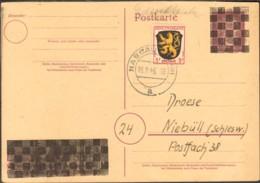 Frz.Zone 3 Pfg.Wappen Als Drucksache V.1946 Auf Aufbrauchs-Formblatt Blanko - Zona Francese