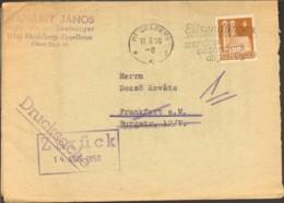 Bizone 4 Pfg. Bauten A.Drucksache V.1950 A.Heidelberg M.Serienstempel Eilsendungen - Zone Anglo-Américaine