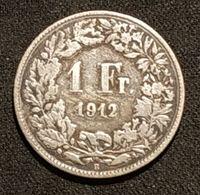 SUISSE - 1 FRANC Helvetia Debout 1912 - Argent - Silver - Zwitserland