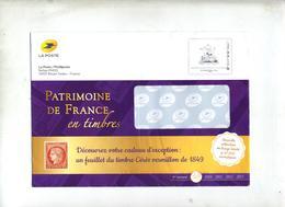 Pap Patrimoine De France  Catalogue Phil@poste  + Enveloppe Reponse T - Prêts-à-poster: Other (1995-...)