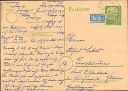 BRD 10 Pfg.Heuss Ganzsache U.Notopfer V.1954 A.Echzell ü.Riedberg (Hess) - Briefe U. Dokumente