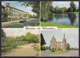 1981 Groeten Uit Woerden 4 Foto's In Kleur Wo Gemeentehuis Gelopen Naar Eindhoven - Woerden