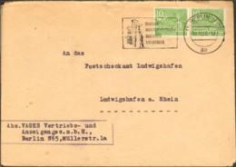 Berlin 2 X 10 Pfg.Berliner Bauten A.Fernbrief V.1950 A.Berlin N 65 M.Serienstempel Dt.Industrieausstellung - [5] Berlin