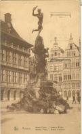 Anvers 1922; Grand'Place, Fontaine Brabo - Voyagé. (van Loo - Anvers) - Antwerpen