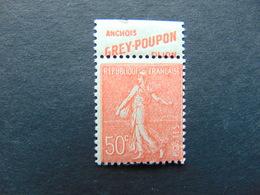 Superbe N°. 74** Type Semeuse Lignée à 50 Centimes Avec Pub Grey Poupon - Werbung