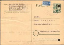 Frz.Zone Rheinl.Pfalz Ganzsache 10 Pfg.Trachten M.BahnpoststempelKoblenz V.1950 Karte Gelocht - Zone Française