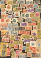 Alli.BesZiffern U.Arbeiter Lot Briefstücke Z.Großteil Aus Paketkartenabschnitten Und Lose Marken - American,British And Russian Zone