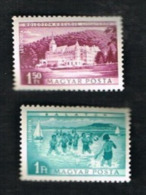 UNGHERIA (HUNGARY)  -  1287.1288 AIR - 1953 WORKERS RESORTS (COMPLET SET OF 2)   -  (MINT)** - Posta Aerea