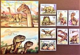 # Antigua & Barbuda 1992**Mi.1609-18 Dinosaurs , MNH  [13;104] - Vor- U. Frühgeschichte