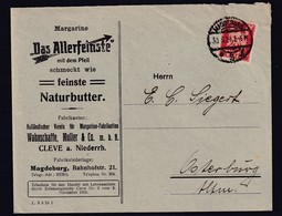 DR. Reklame-Brief, Margarine-Fabrikation, Wahnschaffe, Müller & Co. M.b.H, Cleve - Unclassified