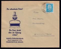 DR. Reklame-Brief, Haro Füllhalterfabrik, Hanns Roggenbuck & Co, Frankenstein - Duitsland