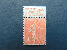N°. 79* Semeuse Lignée à 50 Centimes Avec Pub Vichy - Werbung