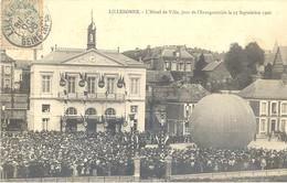 CPA Lillebonne - L'hôtel De Ville, Jour De L'inauguration Le 23 Septembre 1906 (ballon) - Lillebonne