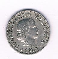 10 RAPPEN 1924  ZWITSERLAND /1606/ - Zwitserland