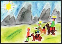 D3908 - Glückwunschkarte Weihnachten - Krippe Weihnachtskrippe - SOS KInderdorf - Natale