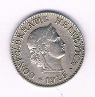 10 RAPPEN 1925  ZWITSERLAND /1607/ - Zwitserland