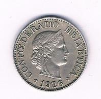 10 RAPPEN 1926  ZWITSERLAND /1608/ - Zwitserland