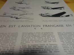 DOCUMENT  -  OU EN EST L'AVIATION FRANCAISE EN 1942 - Articles De Papeterie