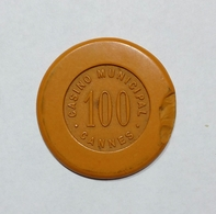 FRANCIA / FRANCE - CANNES - Casinò MUNICIPAL - CHIP / FICHE / TOKEN Da 100 - Casino