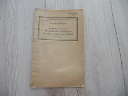 Manuel Technique Entretien Mitraillette Thompson Calibre .45 11.43 M1928A1 1943 23 Pages - Dokumente