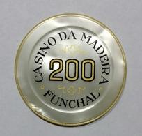 PORTOGALLO - FUNCHAL - Casinò Da MADEIRA - CHIP / FICHE / TOKEN Da 200 ESCUDOS - Casino