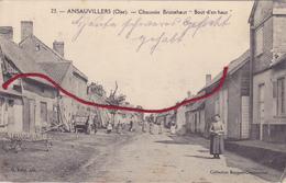 (60) - Ansauvillers Chaussée Brunehaut   1914Carte Allemande 1° Guerre - Frankrijk