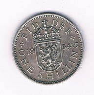 1 SHILLING 1954 (scotland) GROOT BRITANNIE /1620/ - I. 1 Shilling
