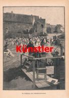 1726 Entstehung Schlachten Panorama Soldaten Kunstblatt 1888 !! - Dokumente